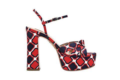 High heels, Footwear, Red, Orange, Sandal, Slingback, Shoe, Carmine,