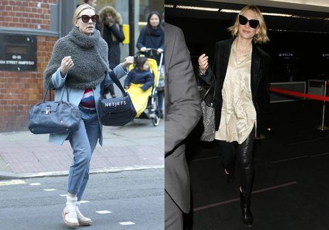 Street fashion, Clothing, Fashion, Snapshot, Jeans, Footwear, Standing, Outerwear, Fur, Eyewear,