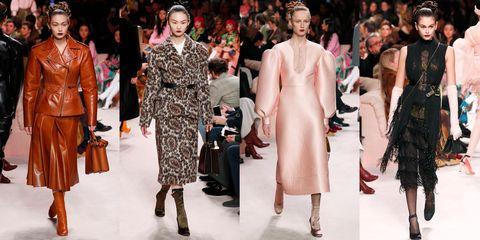 Fashion model, Fashion, Runway, Fashion show, Clothing, Haute couture, Event, Fur, Fashion design, Dress,