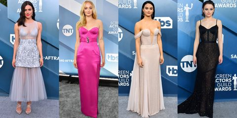 Dress, Clothing, Gown, Carpet, Shoulder, Fashion model, Fashion, Pink, Red carpet, Strapless dress,