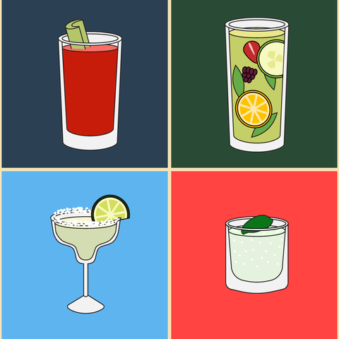 Clip art, Drink, Non-alcoholic beverage, Highball glass, Illustration, Beverage can, Cocktail garnish,