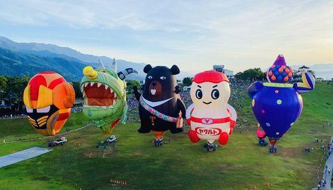 2021臺灣國際熱氣球嘉年華 光雕音樂會場次公布hello kitty熱氣球超萌造型曝光
