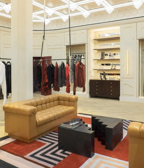 The main room of the Luca Guadagnino designed boutique Redemption.