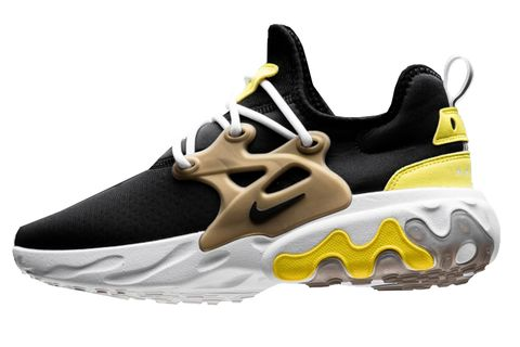 Shoe, Footwear, Outdoor shoe, White, Running shoe, Black, Yellow, Sneakers, Product, Athletic shoe,