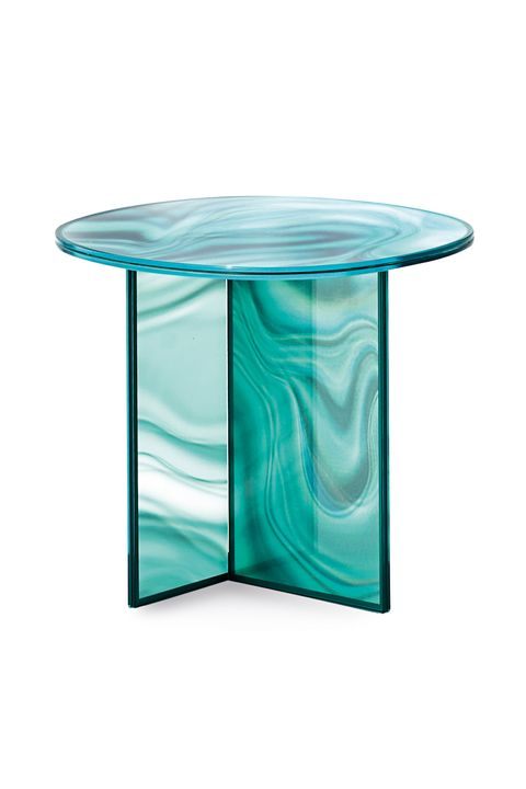 Patricia Urquiola's Liquefy Tempered Glass Table