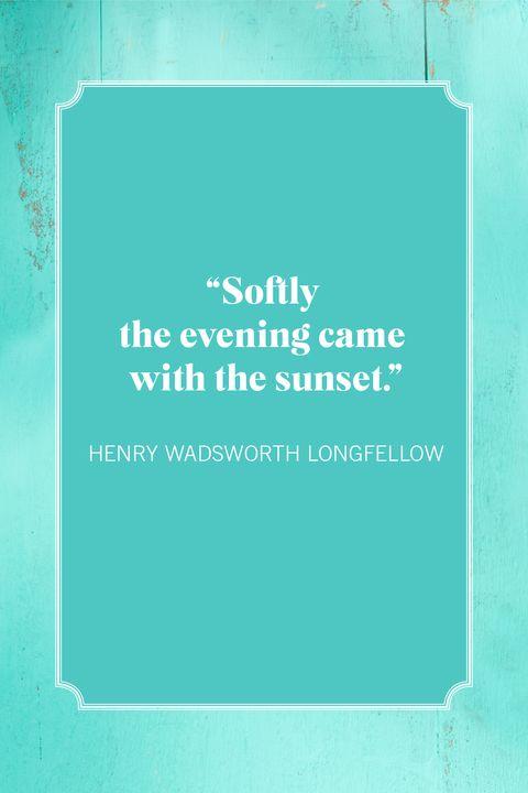 sunset quotes henry wadsworth longfellow