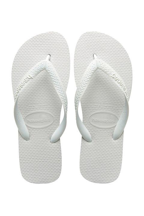 Havaianas white flip flops