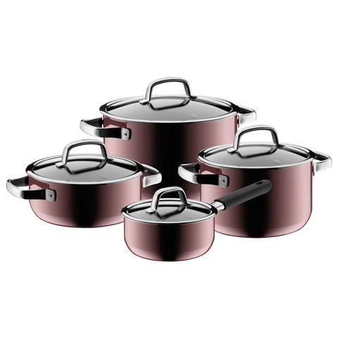 4 pc cookware set fusiontec rose quartz