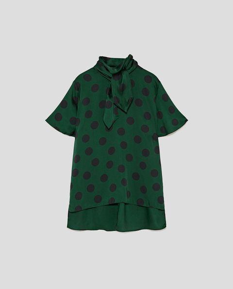 Clothing, Green, Sleeve, T-shirt, Outerwear, Button, Collar, Pattern, Top, Shirt,