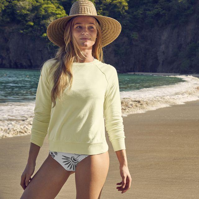 Clothing, Beauty, Sun hat, Hat, Summer, Fashion, Headgear, Photography, Beige, Fashion accessory,