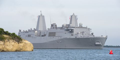 Vehicle, Naval ship, Ship, Warship, Navy, Boat, Watercraft, Amphibious warfare ship, Destroyer, Dock landing ship,