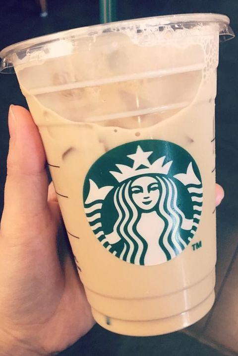 Drink, Cup, Iced coffee, Hand, Cup, Drinkware, Coffee cup, Coffee cup sleeve, Pint glass,