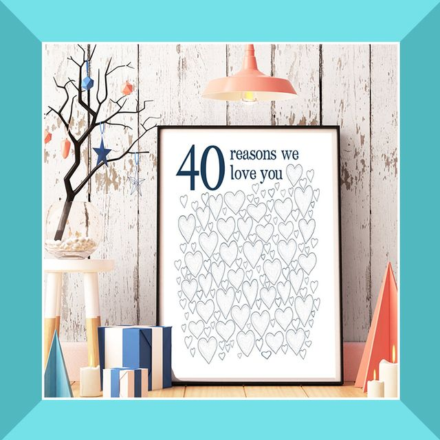 40 reasons we love you poster, happy birthday donuts