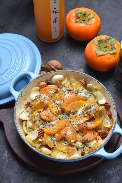 柿と百合根のブルーチーズグリル のレシピ・作り方|ELLE gourmet [エル・グルメ]