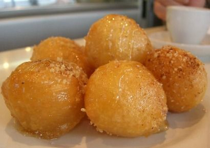 Loukoumades fried doughnuts