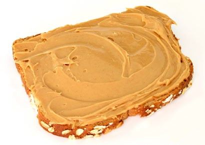 Peanut butter with whole wheat bread