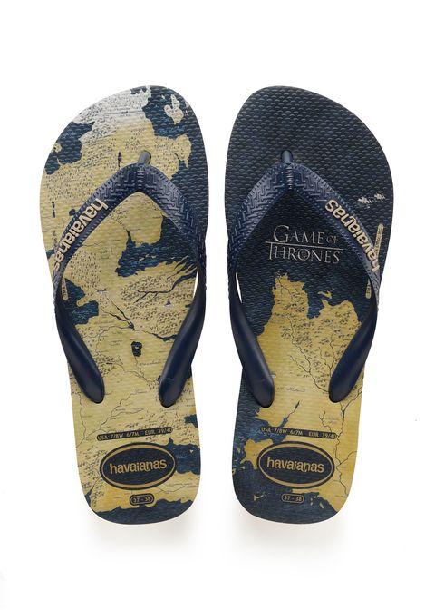 La colección de 'flip flops' deHavaianas conmemorativas del final de Juego de Tronos.