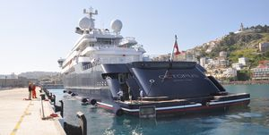 Microsoft co-founder Allen's luxury yacht 'Octopus' at Ege Ports