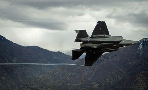 Airplane, Aircraft, Vehicle, Military aircraft, Fighter aircraft, Air force, Lockheed martin f-22 raptor, Jet aircraft, Aviation, Lockheed martin f-35 lightning ii,