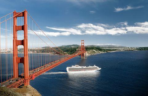 Bridge, Water, Suspension bridge, Sky, Fixed link, Cable-stayed bridge, Waterway, Sea, Headland, Extradosed bridge,