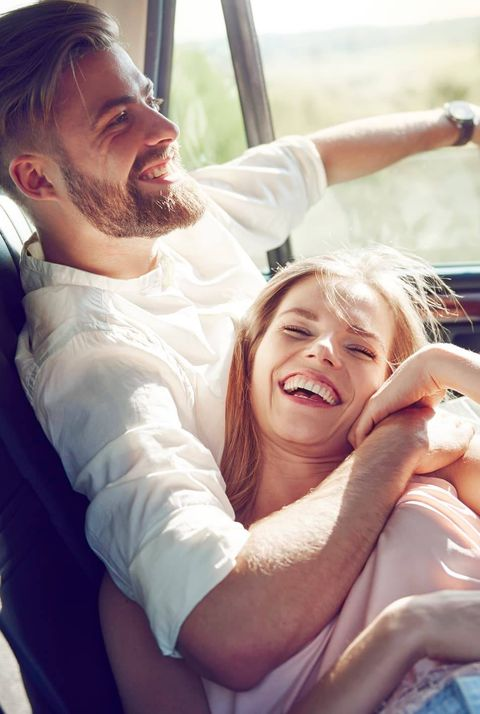 Facial expression, Fun, Smile, Happy, Luxury vehicle, Child, Sitting, Interaction, Family car, Vacation,