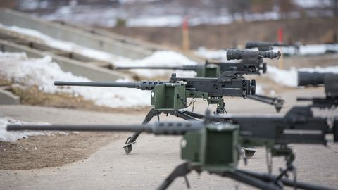 Vehicle, Machine gun, Military helicopter, Helicopter, Aircraft, Military, Army, Soldier, Rotorcraft,