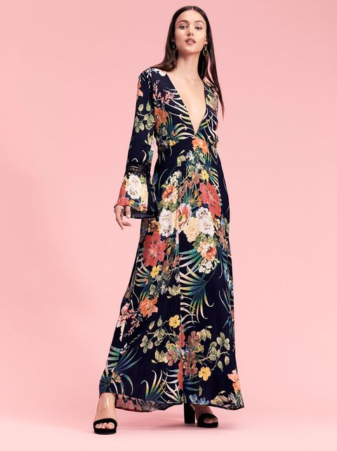 Clothing, Fashion model, Dress, Day dress, Neck, Sleeve, Fashion, Gown, Formal wear, Robe,