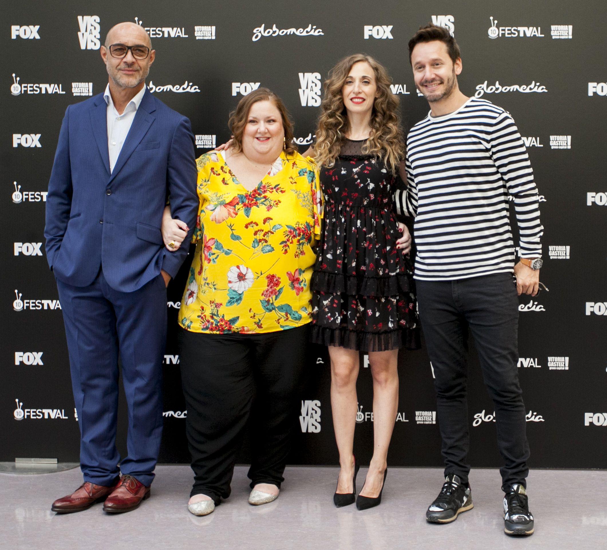Ramiro Blas, Itziar Castro, Marta Aledo y Benjamín Vicuñaen la presentación de la cuarta temporada de 'Vis a vis' en el FesTVal