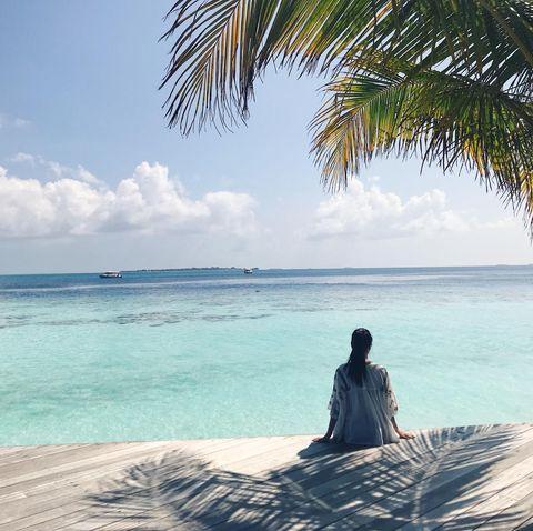 Sky, Beach, Vacation, Ocean, Sea, Tree, Palm tree, Tropics, Cloud, Caribbean,