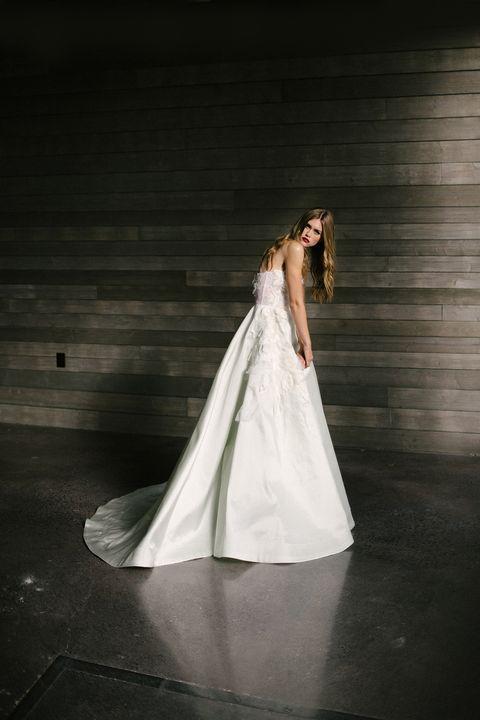 Gown, Bride, Wedding dress, Dress, Photograph, Bridal accessory, Clothing, Bridal clothing, Bridal veil, Beauty,