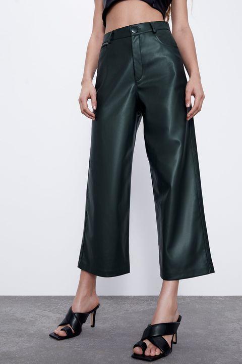 Estos Pantalones De Cuero De Zara Seran La Estrella De La Primavera