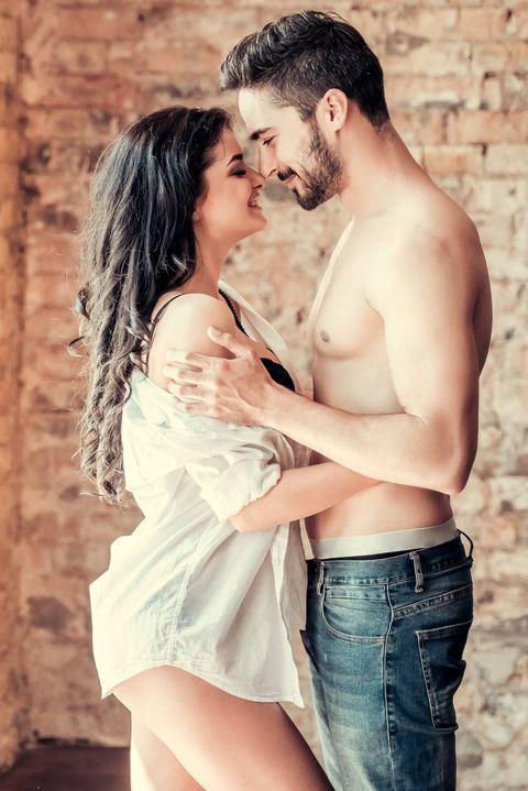 Romance, Love, Beauty, Interaction, Black hair, Hug, Muscle, Photography, Kiss, Leg,