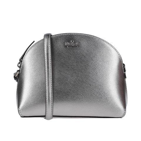 Bag, Coin purse, Silver, Fashion accessory, Handbag, Leather, Metal, Silver, Beige, Rectangle,