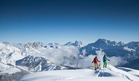 Mountainous landforms, Mountain, Snow, Winter, Mountain range, Skiing, Winter sport, Recreation, Outdoor recreation, Ski mountaineering,