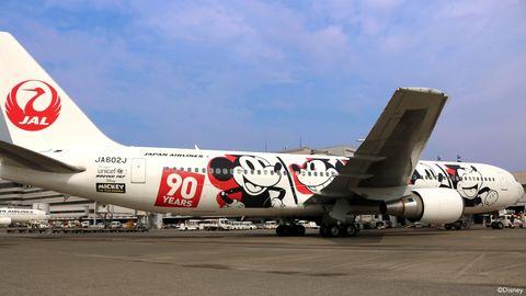 米奇,90週年,紀念,日本,jal,japanairline,dreamexpress,國內線,東京,大阪,札幌,沖繩,彩繪班機,登機證,迪士尼,可愛,旅遊,機票,打卡,ELLE走透透