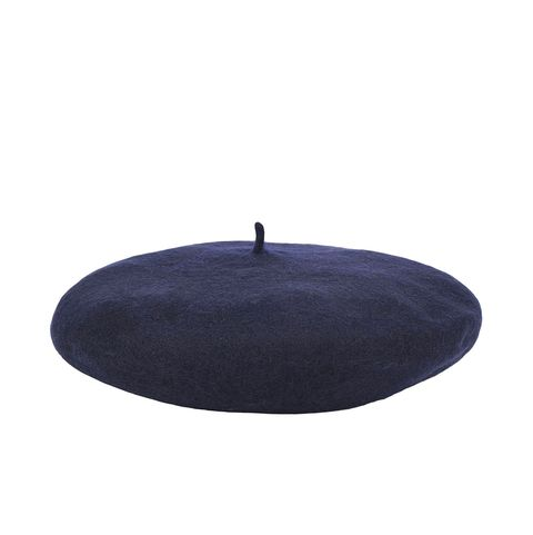 yoox 8 by yoox fashion navy blue beret accessory hat