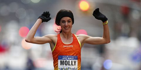 Molly Huddle wins the NYC Half in 2015