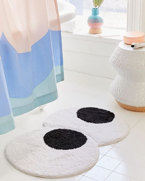 Floor, Bathroom, Room, Mat, Interior design, Flooring, Tile,