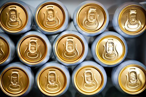 Beverage can, Metal, Currency, Money, Coin, Gold, Font, Stock photography, Aluminum can, Brass,