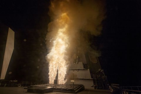 SM-3 Blk IB TU missile launches from the Japan destroyer, JS ATAGO