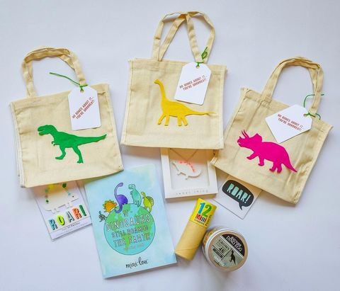 kids goody bag ideas dino bags