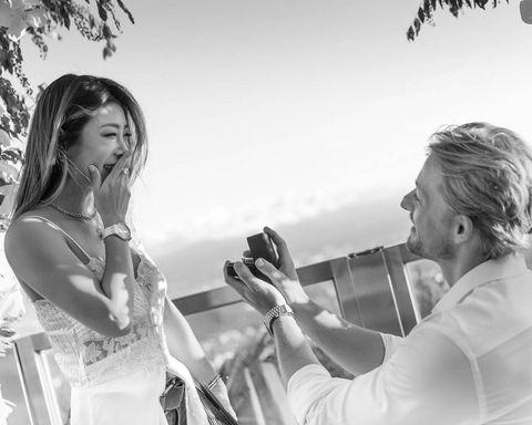 法比歐向女友求婚成功