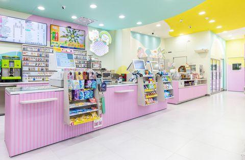 粉色的櫃檯