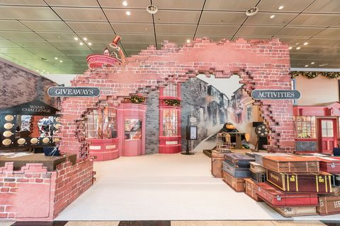 Pink, Building, Interior design, Brick, Ceiling, Architecture, Brickwork, House, Floor, Retail,