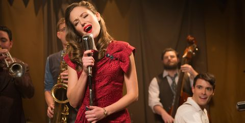 Laura Osnes and Corey Cott in Bandstand.