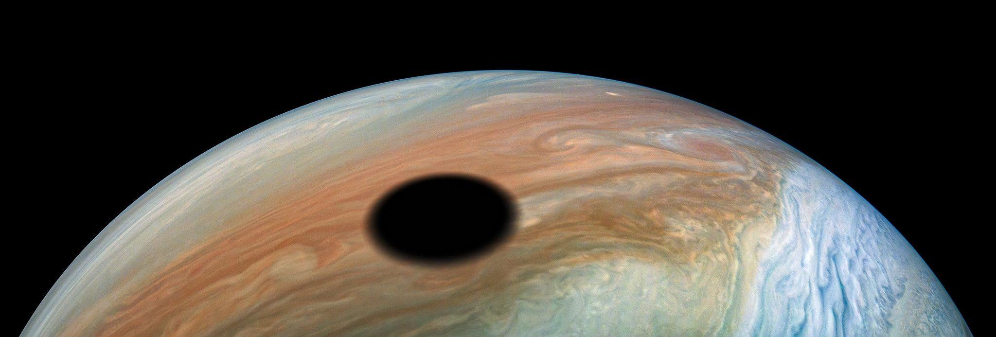 Here's What a Solar Eclipse Looks Like on Jupiter