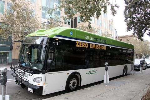 Fuel cell buses cost about $1 million.