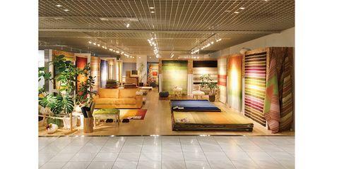 Building, Interior design, Lobby, Ceiling, Property, Room, Furniture, Floor, Architecture, Flooring,