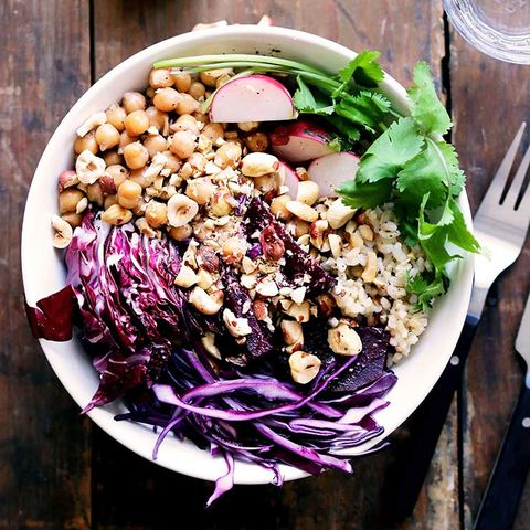 Purple Vegetable Rice Bowl