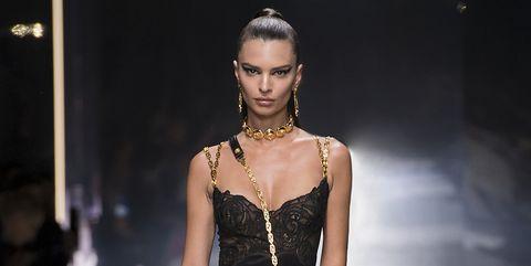 Fashion model, Fashion show, Fashion, Clothing, Runway, Dress, Cocktail dress, Haute couture, Shoulder, Fashion design,